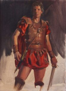 'Centurion' -figure study- 9x12 oil on linen panel - Available