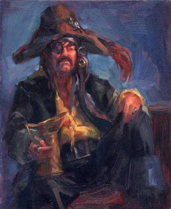 'Pirate' 8x10 oil on wood panel - Sold
