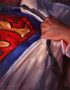 'Superman' 14x18 oil on wood panel - Sold